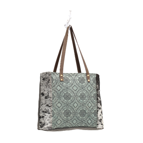 Myra Floral Chic Canvas Tote Bag