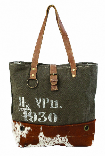 Myra Vintage 1930 Canvas Tote Bag