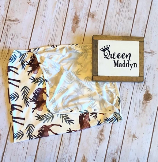 Queen Maddyn Forest Friends Swaddle