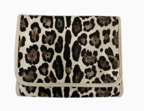 Getaway Toiletry Case - Cream Leopard