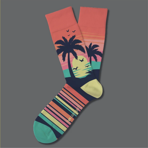 Caribbean Sunset Everyday Socks