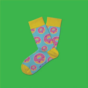Kid's Donut Worry Be Happy Everyday Socks