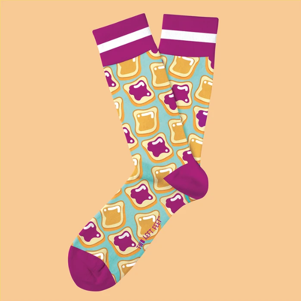 P B and J Everyday Socks