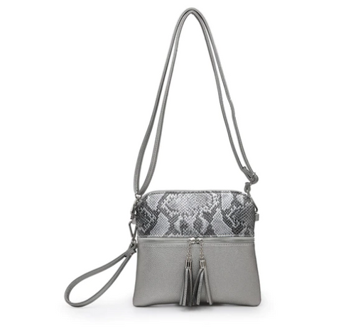 Dark Silver Tara Crossbody Safari