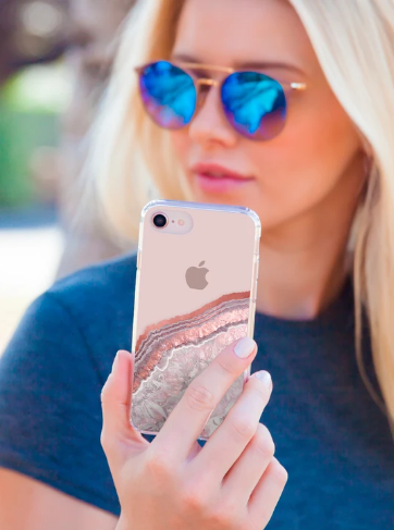 Rose Gold Agate Phone Case