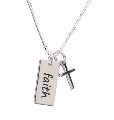 Sterling Silver Faith Cross Necklace