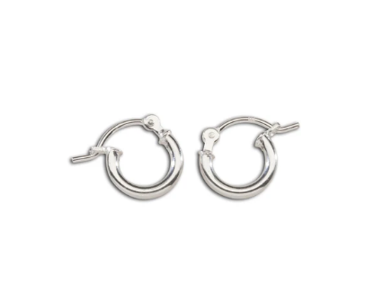 Sterling Silver Hoop Earrings 10mm