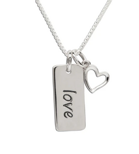 Sterling Silver Love Cross Necklace