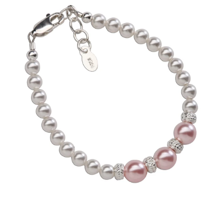 Paige - Sterling Silver Bracelet with Pearls