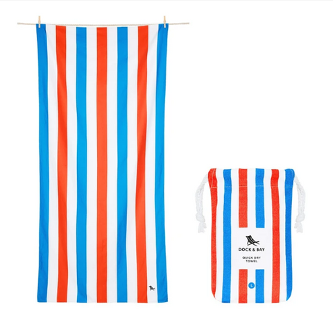 Large Striped Quick Dry Towels - Poolside Parties