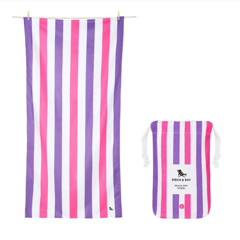 Large Striped Quick Dry Towels - Sparkling Sunsets