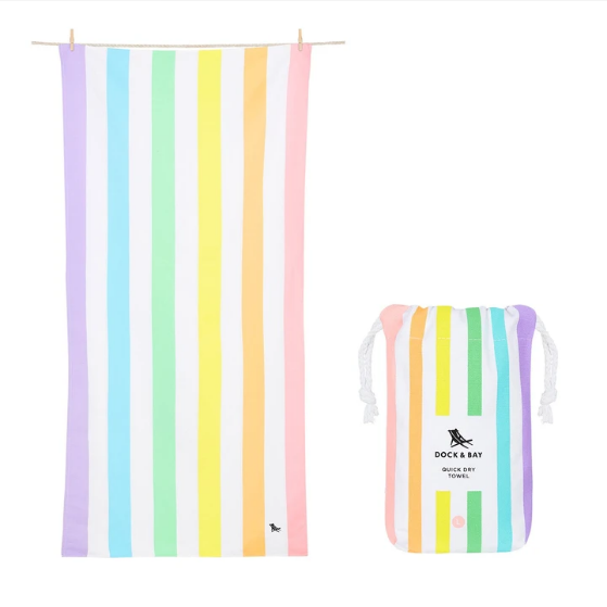 Extra Large Striped Quick Dry Towels - Unicorn Waves