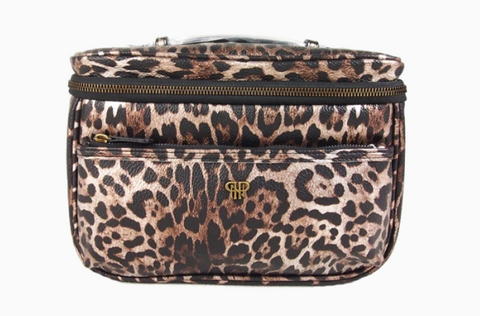 Getaway Classic Train Case - Bronze Leopard
