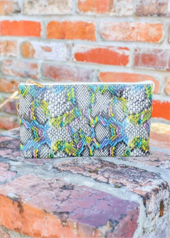 Liz Snake Blue Multi Crossbody/Wristlet