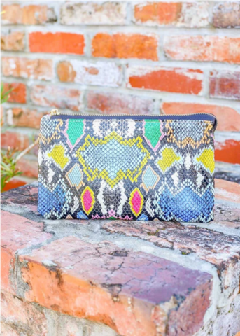 Liz Snake Multi-Graffiti Crossbody/Wristlet