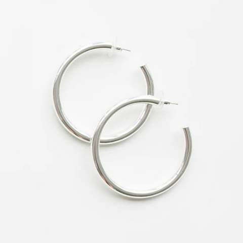 Estonia Shiny Silver Earrings