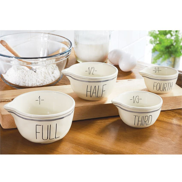 Mud-Pie Striped Measuring Bowl Set