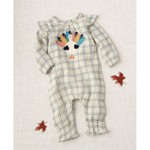 Mud-Pie Turkey Ruffle Smocked One-Piece