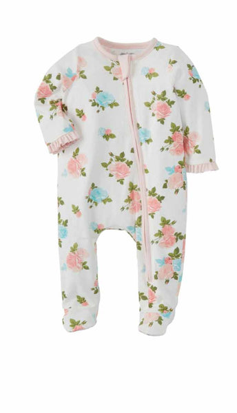 Mud-Pie Ivory Floral Sleeper