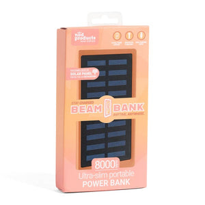 Portable Power Bank + Solar Recharger - Coral