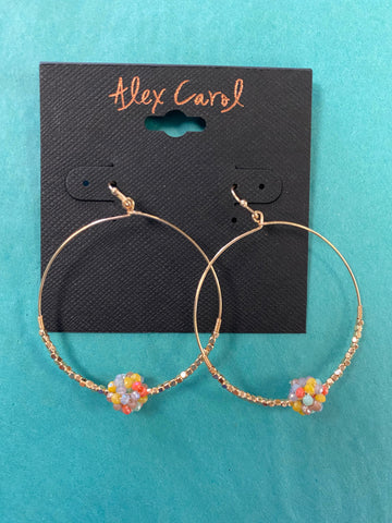 Gold Multi Dangle Hoop Earrings