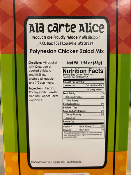 Ala Carte Alice Polynesian Chicken Salad
