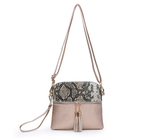 Rose Gold Tara Crossbody/Wristlet Safari