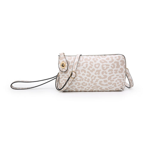 Nude Cheetah Kendall Twist Lock Wristlet/Crossbody