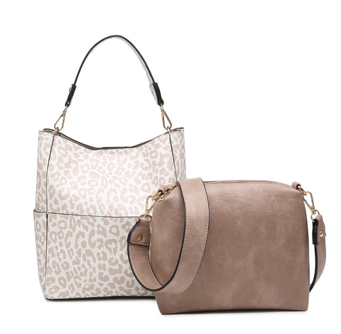 Nude Cheetah Abby Bucket Bag