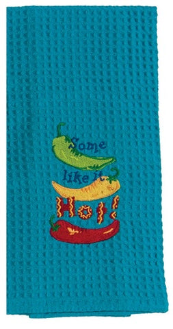 Some Like It Hot Waffle Kitchen Towel