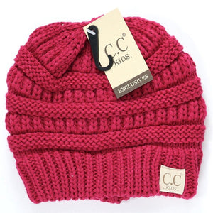 Kids Solid Hot Pink CC Beanie