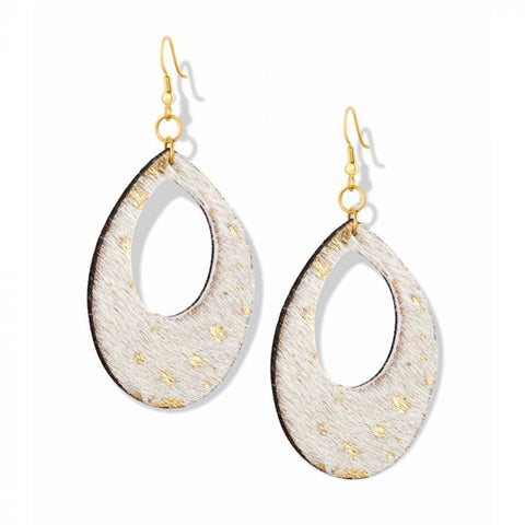Myra Gold Speckle Earrings