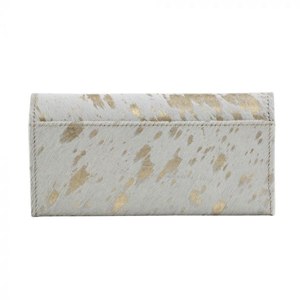 Myra Golden Terrazzo Leather and Hairon Wallet
