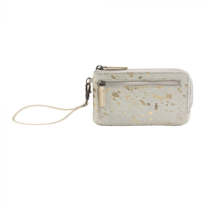 Myra Snowy Affair Leather and Hairon Wallet