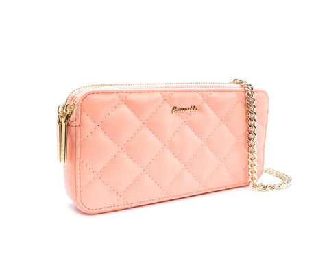 Quilted Body Crosswallet - Blush