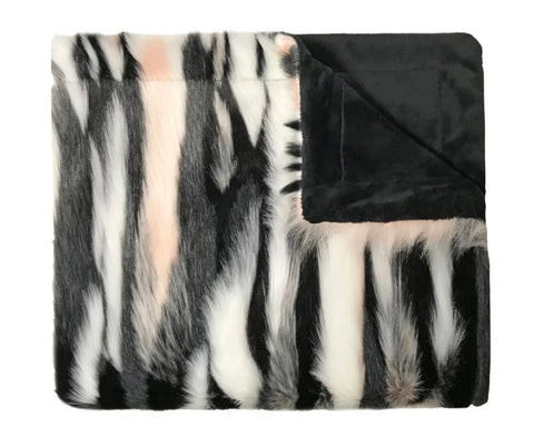 Faux Fur Blush Blanket