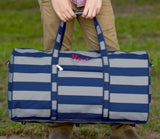 Grey Striped Duffle