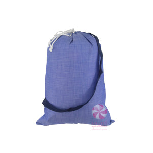 Blue Chambray Laundry Bag