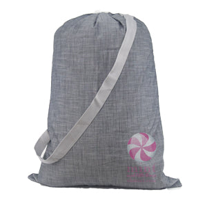 Grey Chambray Laundry Bag