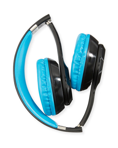 Bluetooth Stereo Balck/Blue Headphones