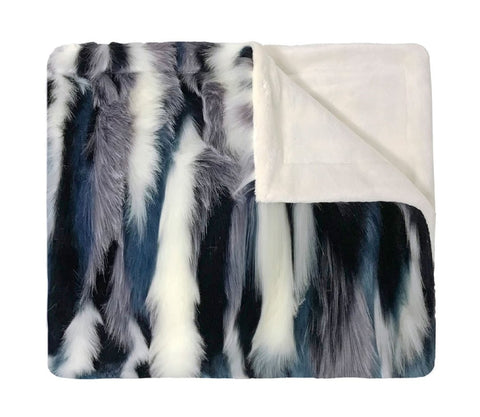 Faux Fur Teal Blanket