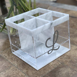 Marble Silverware Caddy
