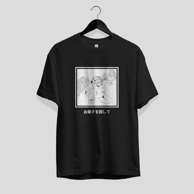 Pass the CANDY - Black - Tee
