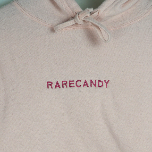 Classic Logo - Blush - Cropped Hoodie