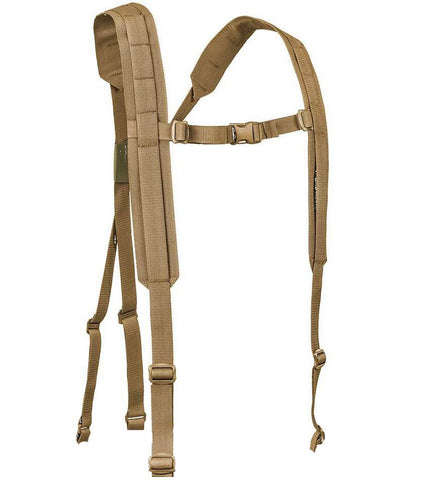 Low profile tactical military 4 point harness