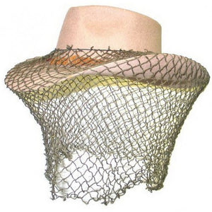 Olive Green Cotton Fly Veil