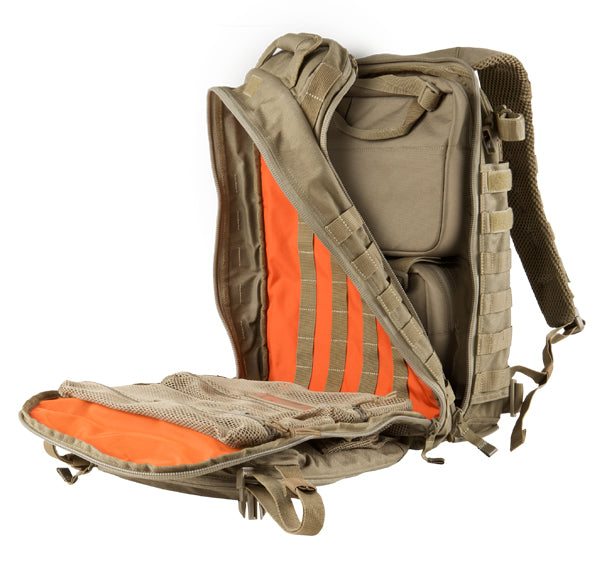 5.11 All Hazards Prime Loadout Back Pack,back back from 5.11 with orange panel