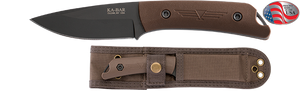 KA-BAR 7502 Jarosz Globetrotter Fixed 3.5″ 1095 Carbon Blade, Brown Ultramid Handles, Polyester MOLLE Sheath