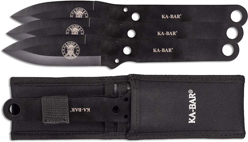 KABAR Throwing Knife Set 1121 kit bag perth