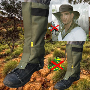 Snake gaiter and fly net combo